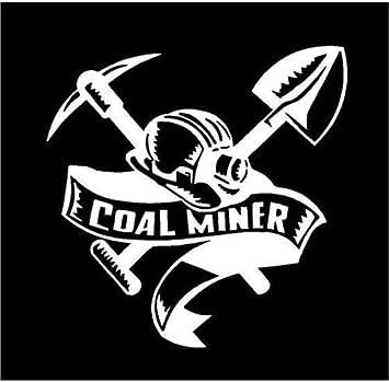 American miner truck window decal mining sticker USA Miner Flag Decal Sticker