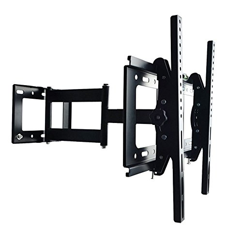 Sunydeal Full Motion Articulating Arm TV Wall Mount Bracket for most 30-60 inch Vizio LG Samsung LCD LED Plasma Flat Screen Smart TV, VESA up to 500x400 and 75 lbs Capacity, with Tilt & Swivel (58 Tv Led)