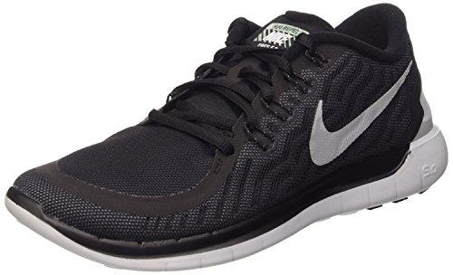 Nike Free 5.0 Flash Zapatillas de running, Hombre Negro / Plata / Gris (Blk / Rflct Slvr-Cl Gry-Pr Pltnm)