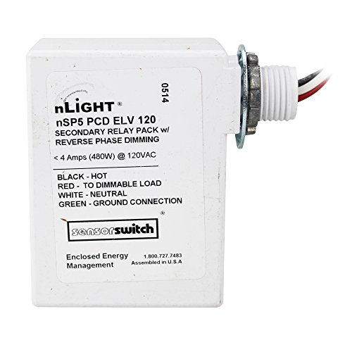Sensor Switch NSP5-PCD-ELV-120 nLight Secondary Relay Pack, Dimming, 120V by Sensor Switch (Image #4)