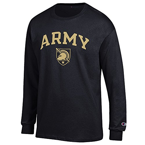 (Elite Fan Shop NCAA Army Black Knights Men's Arch Long Sleeve Shirt, Black, Medium )