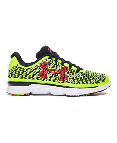 Under Armour Boys' Pre-School UA ClutchFit RebelSpeed Running Shoes 12K High-Vis Yellow