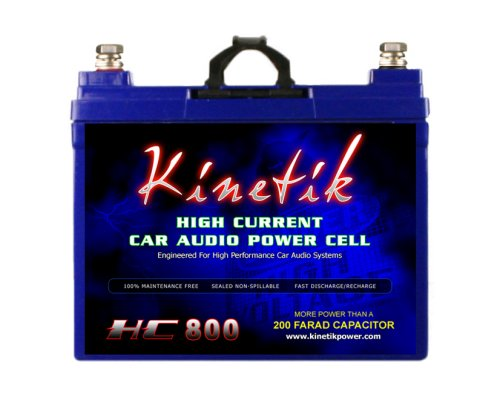 - Kinetik HC800 BLU 800W 12V High Current AGM Car Audio Battery Power Cell (BLU Series)
