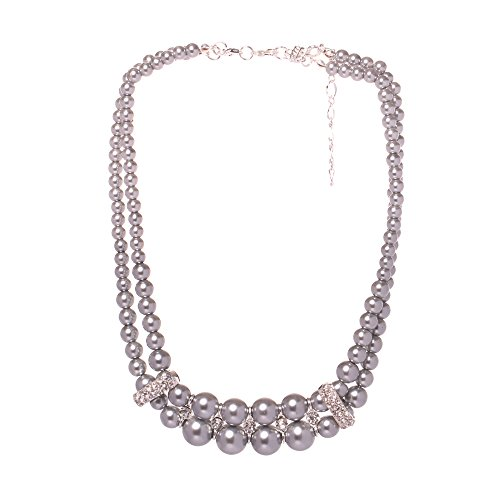 Veenajo Ladies Temperament Necklace Valentine's Day Gift Double Layers Simulated (Red Jade 14kt Bracelet)