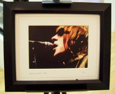 Liam Gallagher Oasis Limited Edition Framed (Limited Edition Art Union)