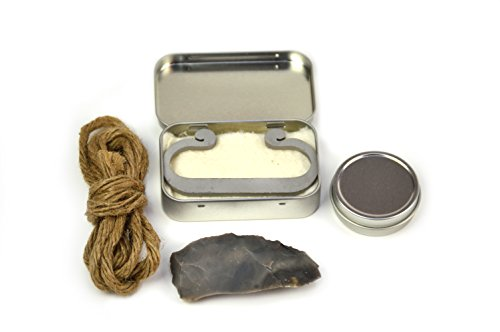 Primitive Fire Deluxe Flint Fire Starter Kit Carbon Steel Fire Striker English Flint Stone Char Cloth and Char Rope Traditional Flint and Steel Fire Starter by Primitive Fire