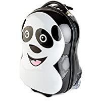 BRUBAKER Panda Suitcase Luggage for Kids