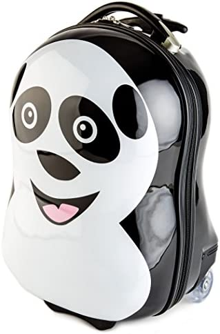 BRUBAKER Panda Suitcase Luggage for Kids