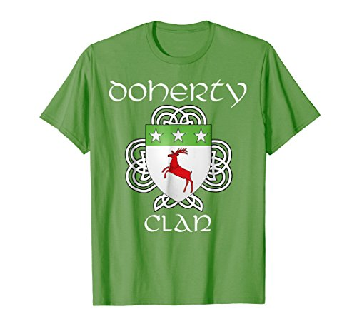 - Doherty Family Crest Coat of Arms T Shirt