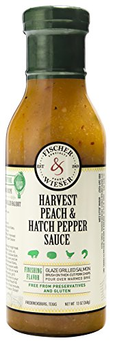 Fischer & Wieser Specialty Foods Harvest Peach and Hatch Pepper Sauce, 13 Ounce - Harvest Peach