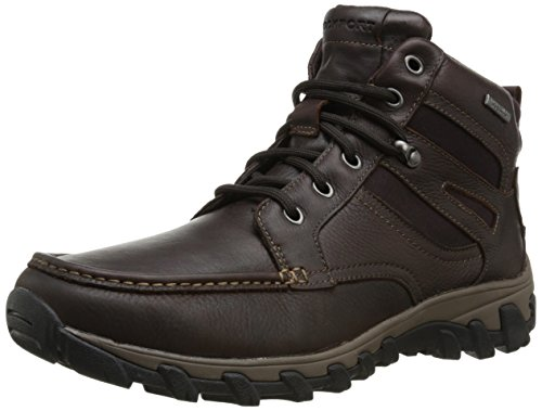 Rockport Men's Cold Springs Plus Mocc Toe Boot - High 7 Eyelets Dark Brown Tumbled Leather 9.5 M (D)-9.5  (Spring Eyelet)
