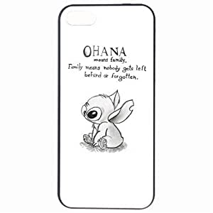 Fashion Ohana Black White Quote Plastic Hard Back Skin Protector For Case HTC One M8 Cover by Alexism