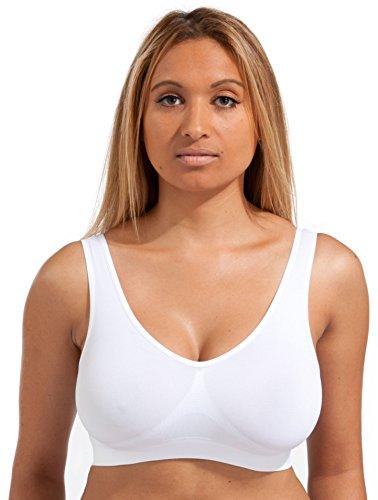 Mariel le 3 Pack Comfort BH Vrouwen Meisjes Crop Top Naadloze Bralette Slaap Yoga Stretch Vest Draad Gratis
