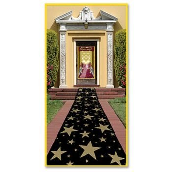Beistle 57653 Gold Star Runner, 24-Inch by -