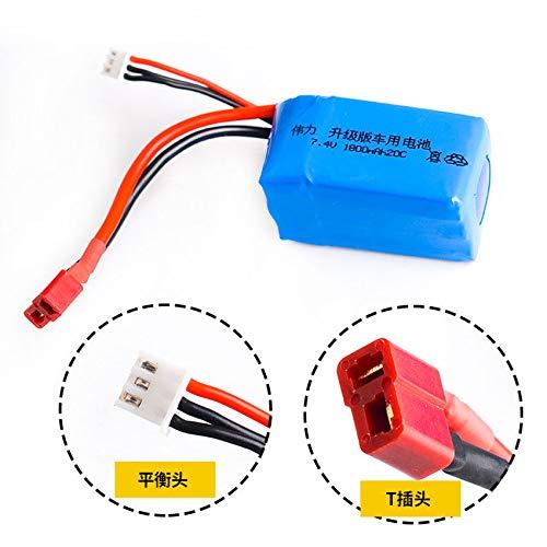 FidgetGear 7.4V/2S 1800mAh 20C LiPO Battery T Plug for WL A959-b A969-b A979-b K929-B RC