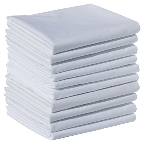 100% Brushed Microfiber 10-Piece Pillowcase Set with 2-Inch Hems - King, White 21x42 (fits 20x36)