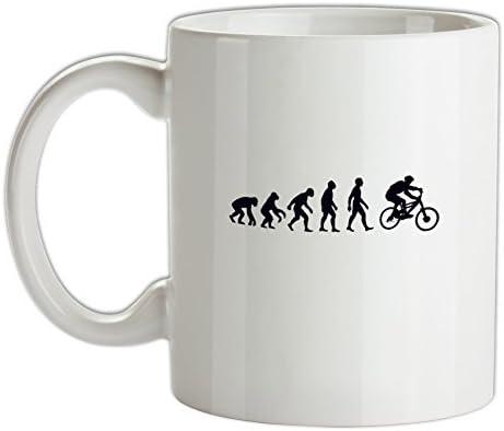 evolución del hombre bicicleta de montaña - 10oz Taza de cerámica ...