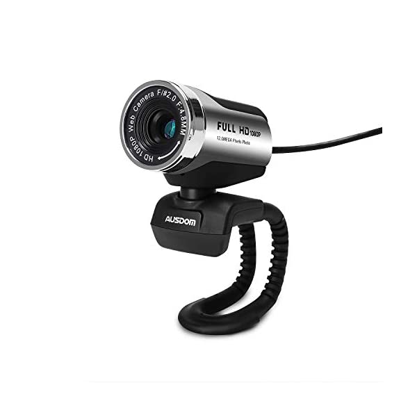 FHD Webcam 1080P AUSDOM AW615 Computer Camera with Microphone USB Web Cam for Online Video Calling
