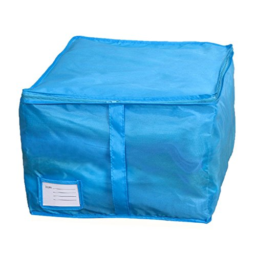 Clothes Quilt Bedding Duvet Zipped Handles Laundry(Blue)(S) - 4
