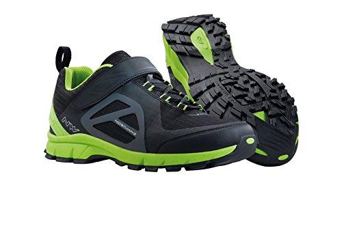 NORTHWAVE ESCAPE EVO senderismo Zapatos de bicicletas de montaña, negro-verde