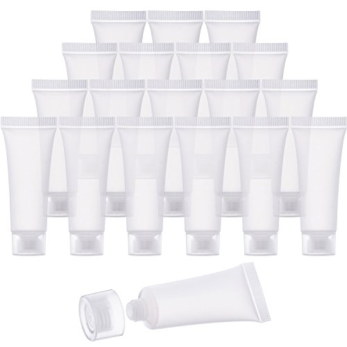 Bememo 30 Pieces 10 ml Empty Tubes Clear Cosmetic Containers