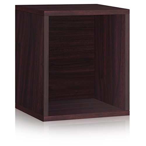 Office Basics (Way Basics Eco Stackable Storage Cube Plus and Cubby Organizer, Espresso (made from sustainable non-toxic zBoard)