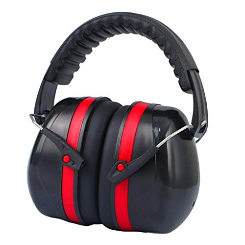 yotijar Noise Reduction Safety Ear Muffs, SNR 35dB Hearing Protection Ear Muffs, Adjustable Headband, Noise Cancelling Headphones for Kids and Adults – Red