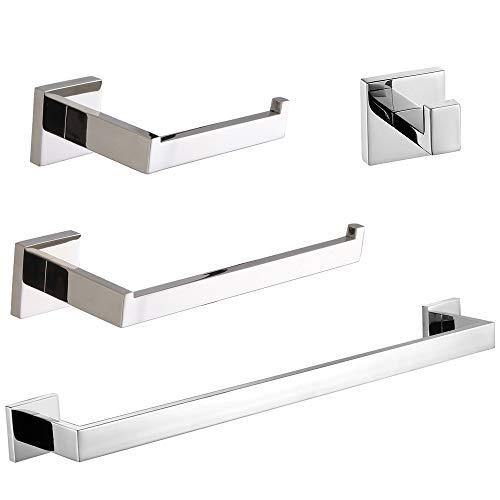 VELIMAX Bathroom Hardware Set 4-Piece, Polished