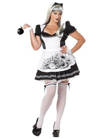 [California Costumes Women's Plus-Size Dark Alice Plus, Black/White, 3X] (Plus Size Costumes)