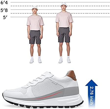 41ylIratV1S. AC GOLDMoral Men Shoes Elevator for Man Men's Fashion Sneakers Mens White Leather Running    Product Description