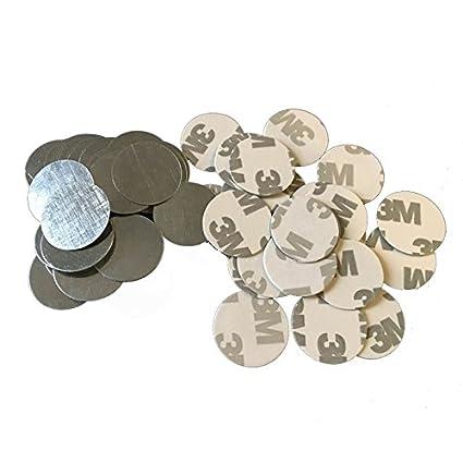 Molee round metal stickers iron for adhesive de potting makeup non metallic pans 30