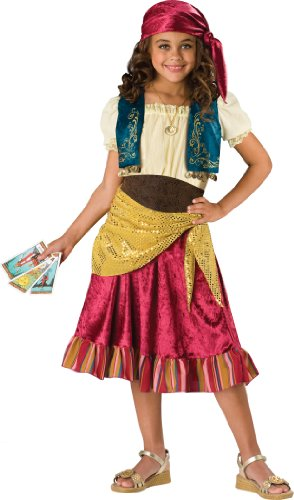 InCharacter Costumes Big Girls' Gypsy Dress Set Costume, Multi Color, Medium