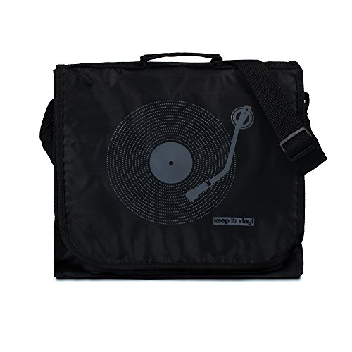 Keep It Vinyl Bag - Vintage Retro Style Record DJ LP Records Messenger Shoulder Bag (One - Shoulder Dj Record