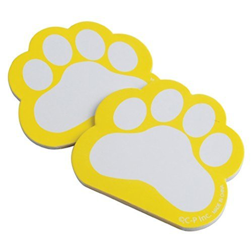 U.S. Toy Dozen Yellow Paw Print Themed Mini Notebook Memo Pads