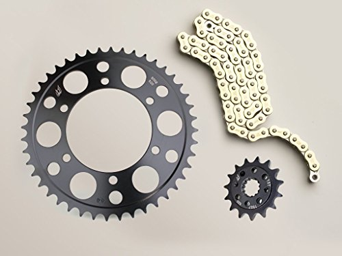 (Driven Racing Evo Steel Power Up Kit -1/+2 Chain and Sprocket Set for Yamaha YZF R1)