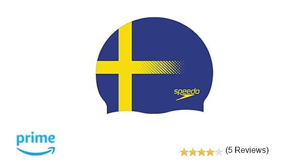 Speedo - Gorro de natación de silicona amarillo Suecia: Amazon.es: Deportes y aire libre