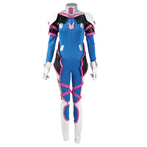 Overwatch DVA Hana Song Cosplay Costume Lycra Fabric Bodysuit Cosplay for Girls 400054 (Custom D D Costumes)