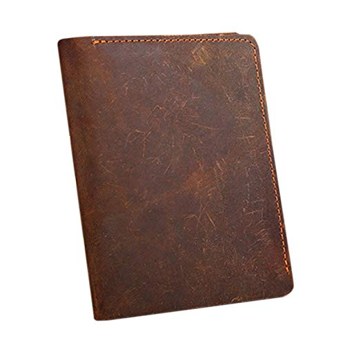 (Mens Leather Flipout ID Wallet Bifold Bifold Hybrid (Chocolate-vertical))