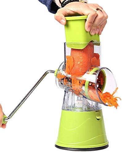 SHUUY Gemüseschneider Rundhobel Reiben Kartoffel-Karotten-Käse Shredder Fleischwolf Gemüsehacker Küche Roller Gadgets Werkzeug (Color : Pink) Red