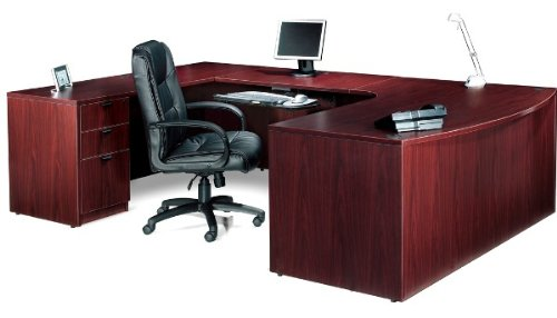 Offices to Go SL7148BCL Executive U Shaped Desk American Dark