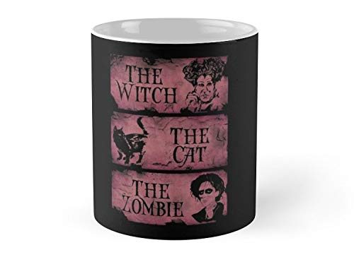 Hued Mia Mug the wicth,the cat, the zombie - 11oz Mug - Features wraparound prints - Dishwasher safe - Made from Ceramic - Best gift for family friends ()