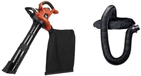 BLACK+DECKER (BV6600) 3-in-1 Electric Leaf Blower, Leaf Vacuum, Mulcher, 12-Amp