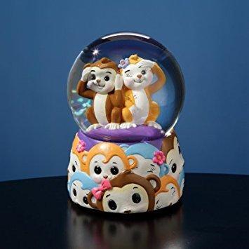 Jingle Jumbles Monkey Water Globe by The San Francisco Music Box Company - Francisco Glass Music Box