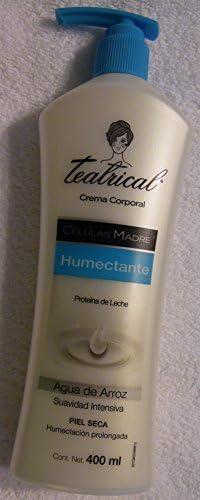 Teatrical Crema Corporal Humectante Proteina de Leche (Agua ...