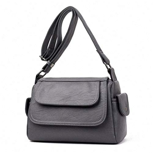 (ANANXILA Fashion Woman Crossbody Bags Messenger Bags Shoulder Handbag Crossbody Bags Grey )