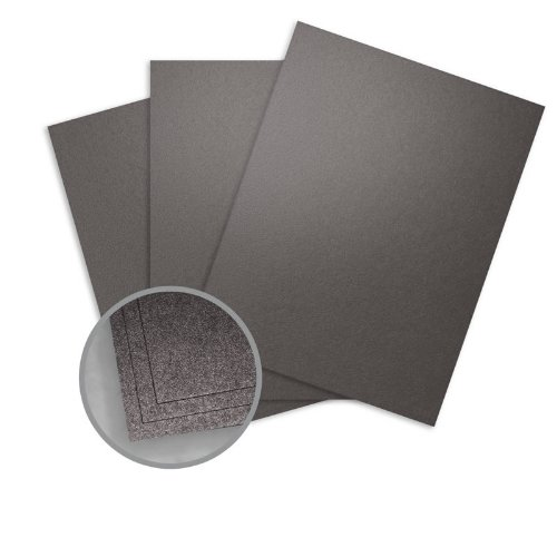 Elan Metallics Obsidian Card Stock - 12 x 12 in 107 lb Cover Metallic C/2S 250 per Package by WorldWin Paper Elan Metallics