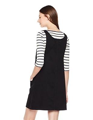 Lily Parker Women's Junior Classic Denim Bib Overall Dress with Pocket