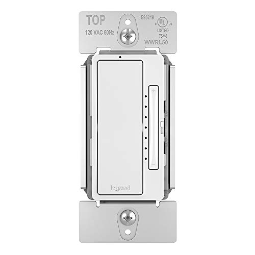 Legrand - Pass & Seymour Radiant Smart WWRL50WH Tru-Universal Wi-Fi Enabled Dimmer, White by Pass & Seymour (Image #1)