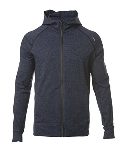 Navy Performance Hoody (425 Full Zip Performance Hoodie-Heather Navy/Black-Small)