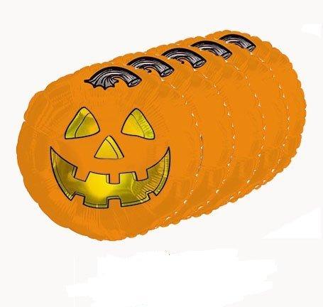 Halloween Pumpkin Fun Mylar/Foil Balloon 18 Inch - Mylar Pumpkin Balloon Foil